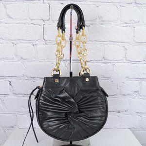 ALEXIS HUDSON Black & Gold Chain Shoulder Bag …